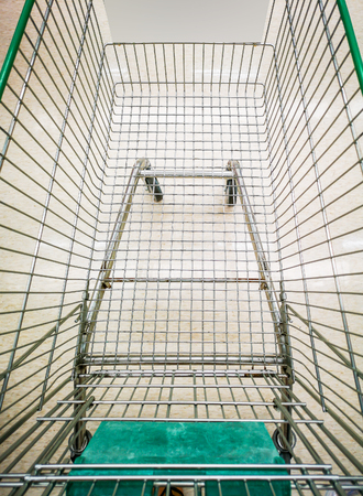 Shopping cart in the mall