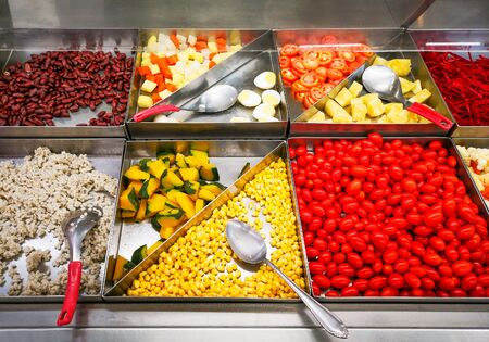 Vegetarian buffet, fresh the vegetables in restaurants