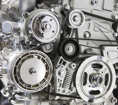The design of the modern car engine. 写真素材 - 127030726