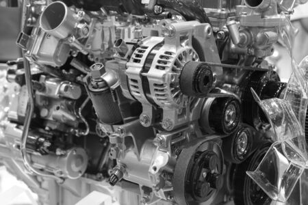 The design of the modern car engine.