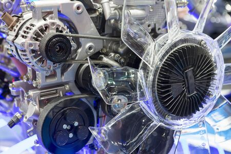 The design of the modern car engine. 写真素材 - 127030730