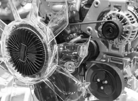 The design of the modern car engine. 写真素材 - 127030731