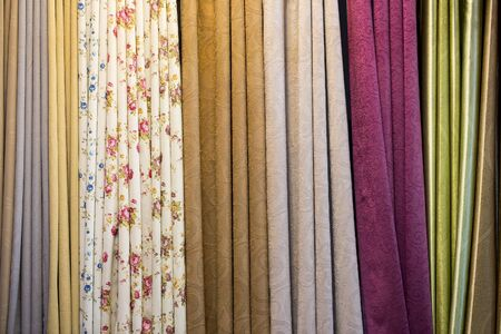 Colorful curtains and beautiful patterns.