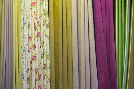 Colorful curtains and beautiful patterns. 写真素材