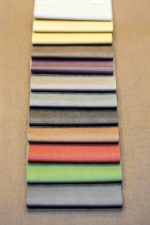 Example of PU artificial leather strips boards 写真素材 - 127031138