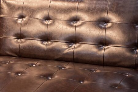 Brown leather sofa is a beautiful backdrop. 写真素材 - 127031143
