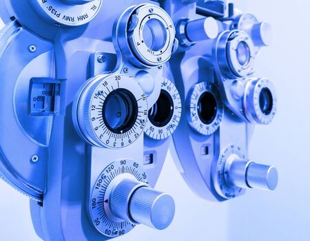 Test and measurement of myopia and long sight Stockfoto