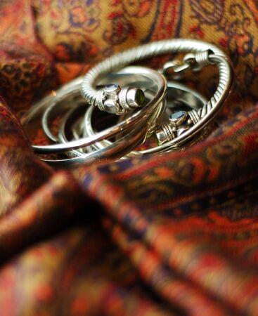 Stack of Bagle Bracelets