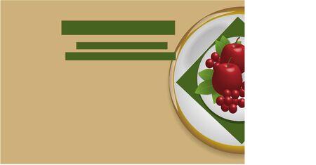 braun: braun fruit plate background Illustration