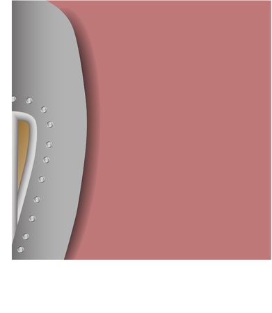 object complement: gray women fashion shoes on rose background  Illustration