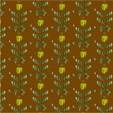 braun: braun background and yellow flowers with leaf Illustration
