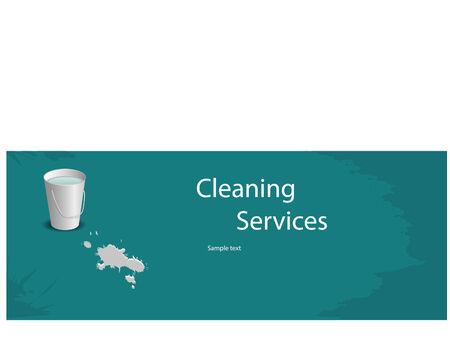 Disposition bleue pour le service de nettoyage pour votre site web