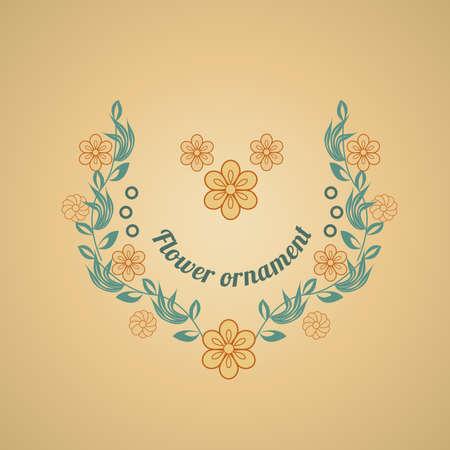 blumen verzierung: floralen Ornament