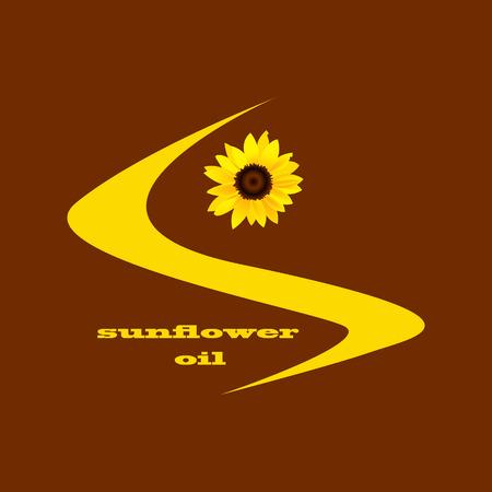 ilustration: sunflower oil label