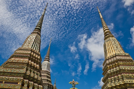 Authentic Thai Architecture in Wat Pho, Thailand Stock Photo