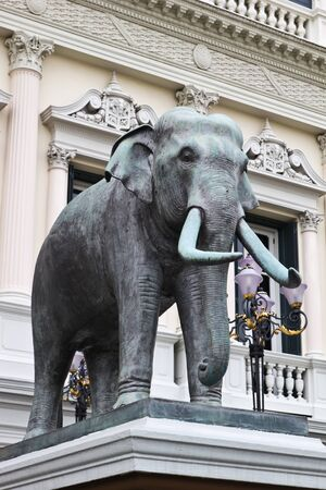 Elephant statue at wat pho , Thailand Stock Photo
