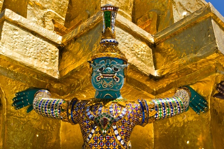 Giant Guardian in Wat Phra Kaew, Thailand photo