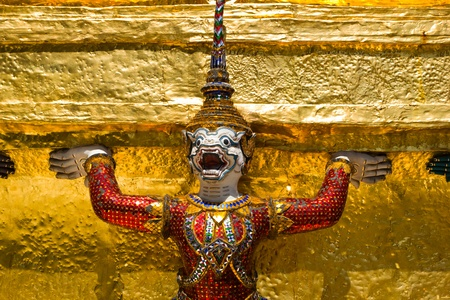 Giant Guardian in Wat Phra Kaew, Thailand