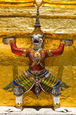 Giant Guardian in Wat Phra Kaew, Thailand Stock Photo - 13359492