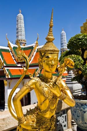 Thai fairy bird on half human at Wat Phra Keaw