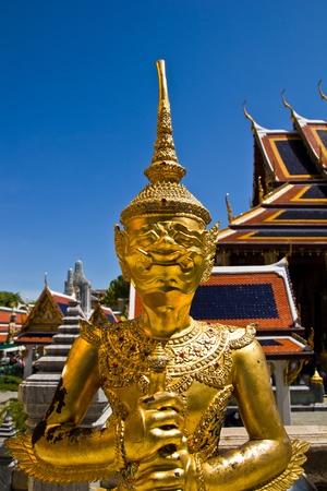 Thai fairy bird on half human at Wat Phra Keaw photo