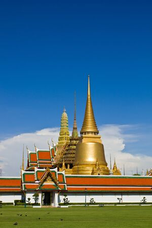 Golden Pagoda in Wat phra keaw - Grand Palace , Bangkok Thailand
