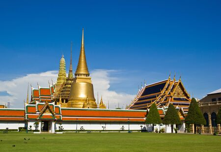 Golden Pagoda in Wat phra keaw - Grand Palace , Bangkok Thailand Stock Photo - 13359201