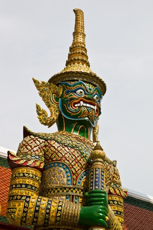 Guardian statue at Wat Phra Kaew photo