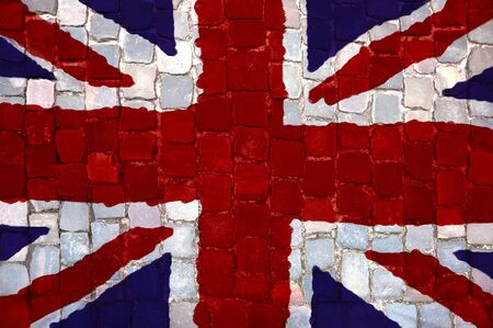 English flag painted Grunge Stock Photo