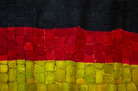 Germany flag painted Grunge
