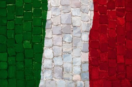 bandera italia: Bandera italiana pintado Grunge Foto de archivo