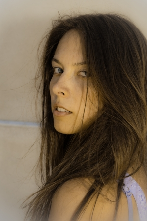 Pportrait of beautiful sensual woman East European Stock Photo