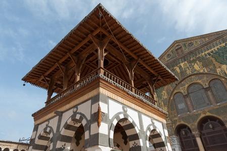 Damascus, the Islamic most famous Umayyad Mosque Banco de Imagens