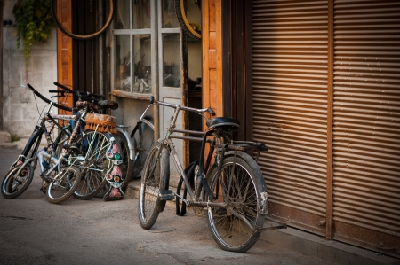 mesopotamian: Old bikes in the old city of Damascus