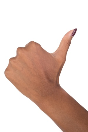 hand signal isolated on white background photo