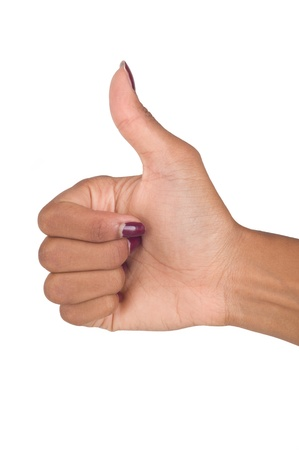 unapproved: hand signal isolated on white background