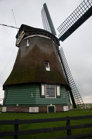 Traditional windmill in Netherlands Stock Photo