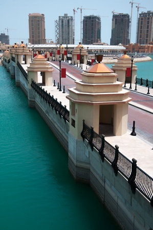 A detail of the pearl in Doha, Qatar
