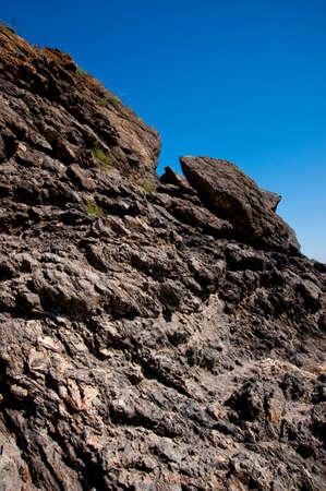 Wet stone sea coast,  background