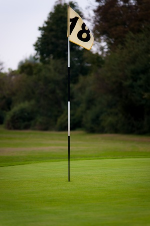 Golf course the 18 hole Stock Photo