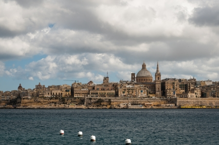 Skyline of the Maltese capital city Valletta