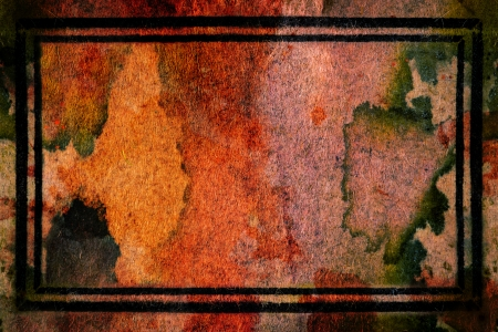 grunge background with black frame and space for text or image