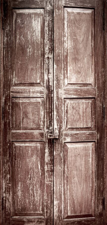 Full vintage Chinese Style door with texture and intended vignette photo