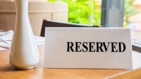 restuarant: Reserved table at a restuarant Stock Photo