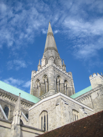 Kathedraal van Chichester Stockfoto