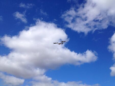 Airplanes and white clouds