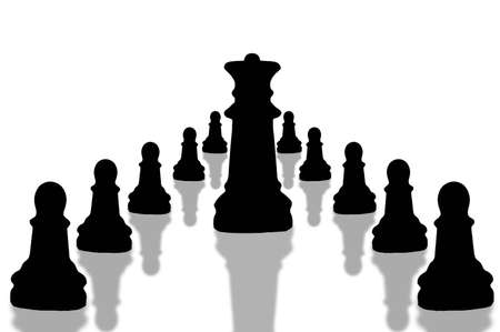 close up of chess pieces