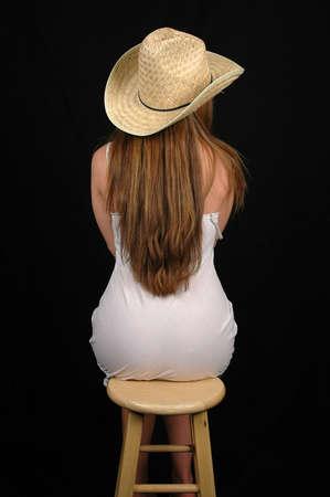 sit: womans portrait Stock Photo