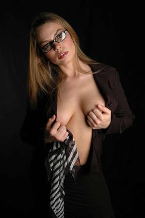 stripping: Retrato de mujer  Foto de archivo