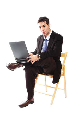 businessman is working on his laptop Stock Photo - 2071752